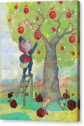 Bad Apples Good Apples Canvas Print by Dennis Wunsch