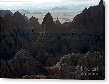 Badland Horizons Canvas Print by Chris  Brewington Photography LLC
