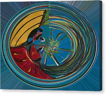Baianas At The Shore II Canvas Print by Fatima Neumann