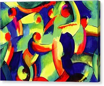 Baile Del Universo Canvas Print by John Crespo Estrella
