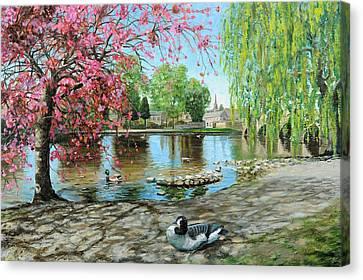 Bakewell Bridge - Derbyshire Canvas Print by Trevor Neal