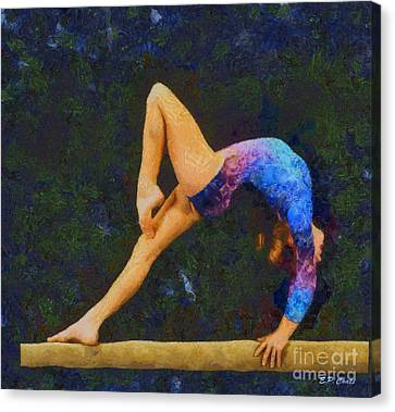 Balance Beam Canvas Print by Elizabeth Coats