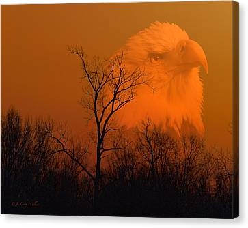 Bald Eagle Spirit Of Reelfoot Lake Canvas Print by J Larry Walker
