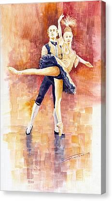 Balet 01 Canvas Print by Yuriy  Shevchuk