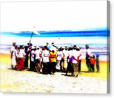 Balinese Beach In Mourning Canvas Print by Funkpix Photo Hunter