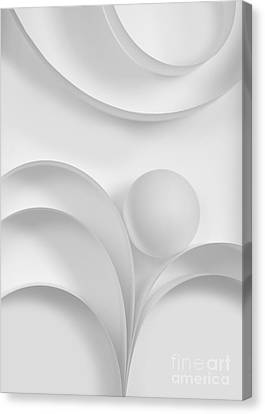 Ball And Curves 03 Canvas Print by Nailia Schwarz