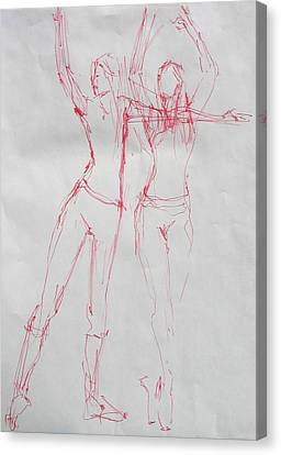 Ballerina 8040 Canvas Print by Elizabeth Parashis
