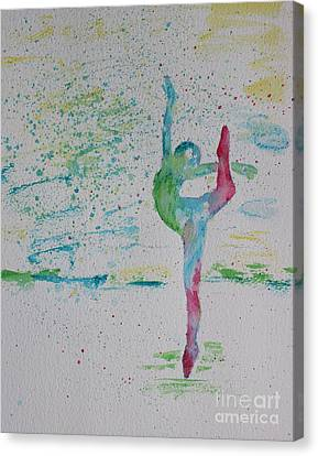 Ballet Pointe 2 Canvas Print by Carolyn Weir