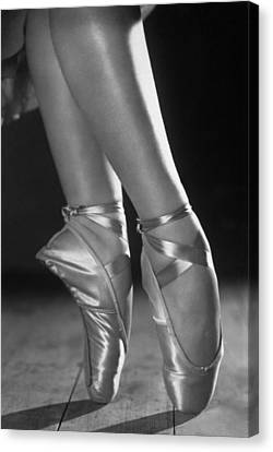 Ballet Shoes Canvas Print by Sasha