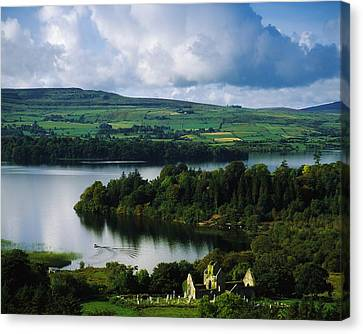 Ballindoon Abbey, Lough Arrow, Co Canvas Print by The Irish Image Collection