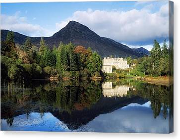 Ballynahinch Castle Hotel, Twelve Bens Canvas Print by The Irish Image Collection