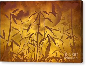 Bamboo Garden II Canvas Print by Angela Doelling AD DESIGN Photo and PhotoArt