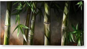 Bamboo Stalks Canvas Print by Steve Goad