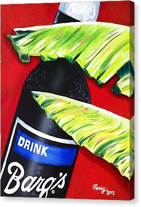 Banana Leaf Series - Barq's Rootbeer Canvas Print by Terry J Marks Sr