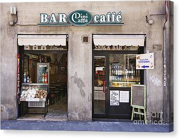 Bar Caffe Canvas Print by Jeremy Woodhouse