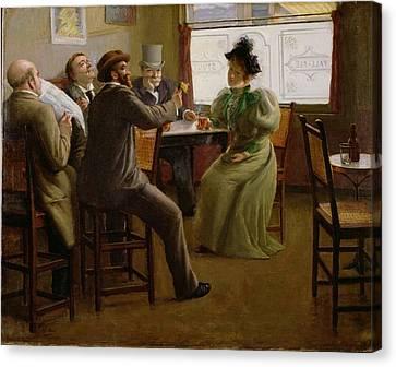 Bar Interior Canvas Print by Belgian School