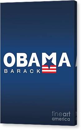 Barack Obama Canvas Print by Darren Burroughs
