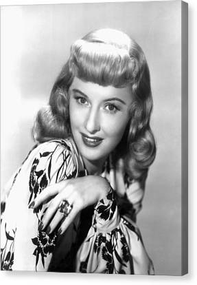 Barbara Stanwyck, Paramount Publicity Canvas Print by Everett