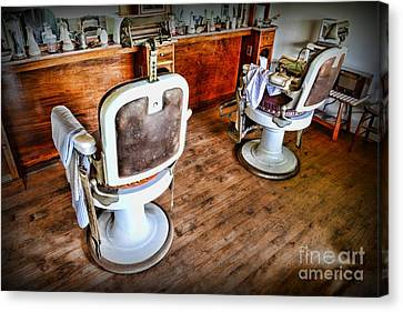 Barber - The Barber Shop 2 Canvas Print by Paul Ward