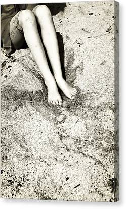 Barefoot In The Sand Canvas Print by Joana Kruse