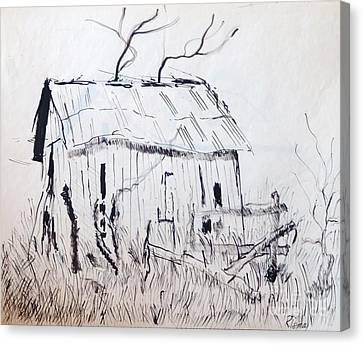 Barn 1 Canvas Print by Rod Ismay