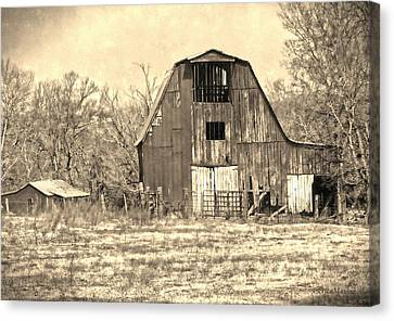 Barn-sepia Canvas Print by EricaMaxine  Price
