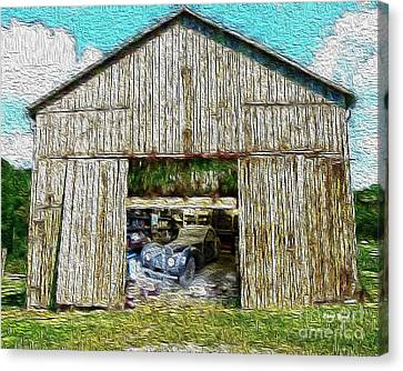 Barn Treasures Canvas Print by Cheryl Young