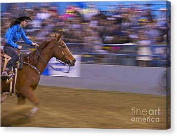 Barrel Racer 1 Canvas Print by Sean Griffin