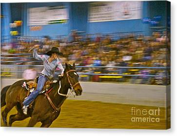 Barrel Racer 2 Canvas Print by Sean Griffin