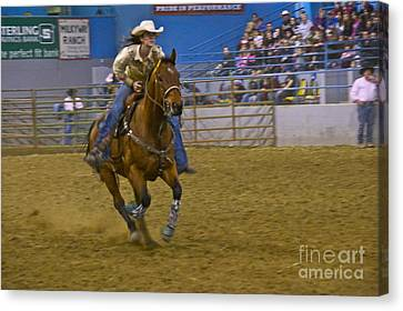 Barrel Racer 3 Canvas Print by Sean Griffin