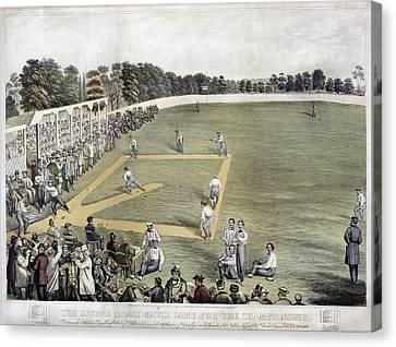 Baseball, 1866 Canvas Print by Granger