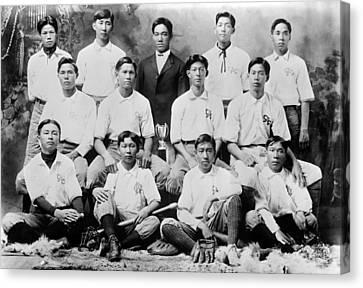 Baseball. Chinese-american Baseball Canvas Print by Everett