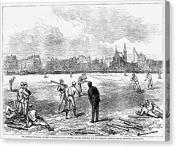Baseball: England, 1874 Canvas Print by Granger
