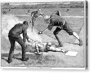 Baseball Game, 1885 Canvas Print by Granger