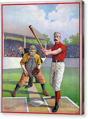 Baseball Game, C1895 Canvas Print by Granger