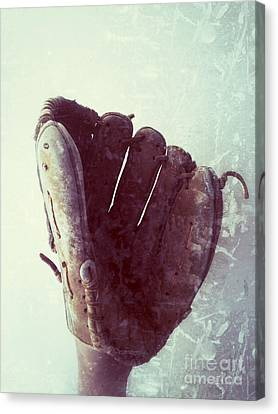 Baseball Glove Vertical Canvas Print by Ruby Hummersmith