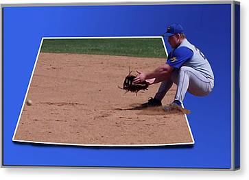 Baseball Hot Grounder Canvas Print by Thomas Woolworth