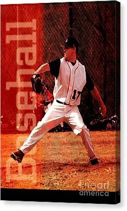 Baseball Canvas Print by John Turek