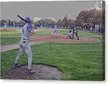 Baseball On Deck Digital Art Canvas Print by Thomas Woolworth