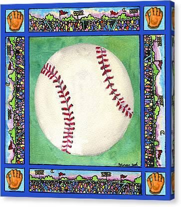 Baseball Canvas Print by Pamela  Corwin