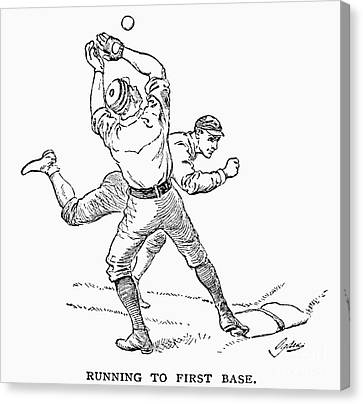 Baseball Players, 1889 Canvas Print by Granger