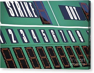 Baseball Scoreboard Canvas Print by Bryan Mullennix