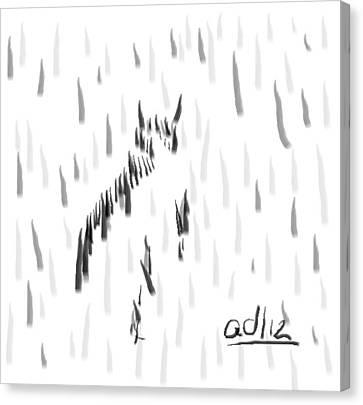 Bashful Without Line Canvas Print by Anita Dale Livaditis