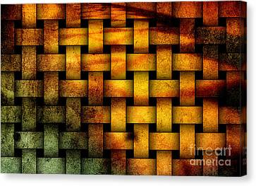 Basket Weave Abstract. Canvas Print by Emilio Lovisa