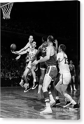 Basketball Game, C1960 Canvas Print by Granger