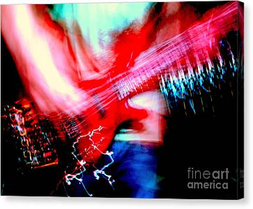 Bass Guitar 1 Canvas Print by Jason D Rogers
