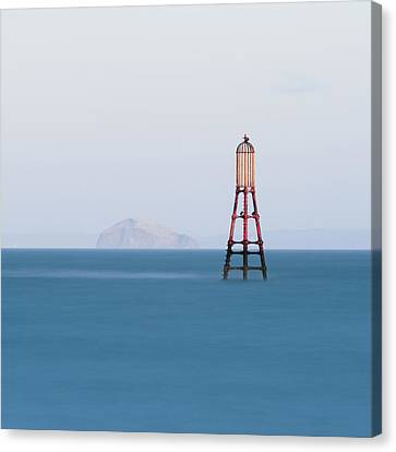 Bass Rock From Fife Canvas Print by Paul McGee
