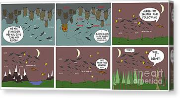 Bat Blood Canvas Print by Jack Norton