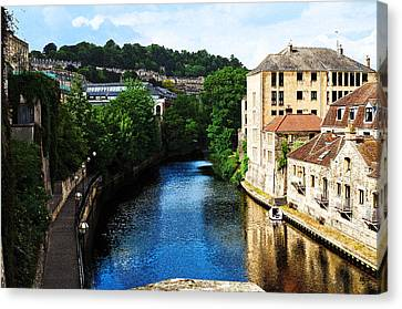 Bath Canvas Print by MaryJane Armstrong