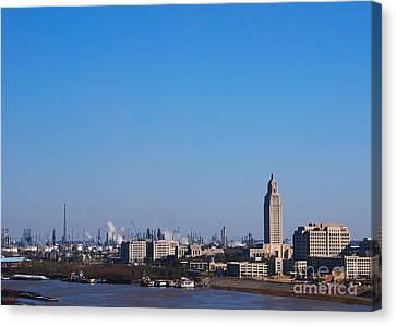 Baton Rouge Skyline Louisiana  Canvas Print by Susanne Van Hulst